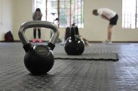 This kettlebell challenge workout consisting of a variety of exercises in which you complete 300 total reps in a race against the clock.